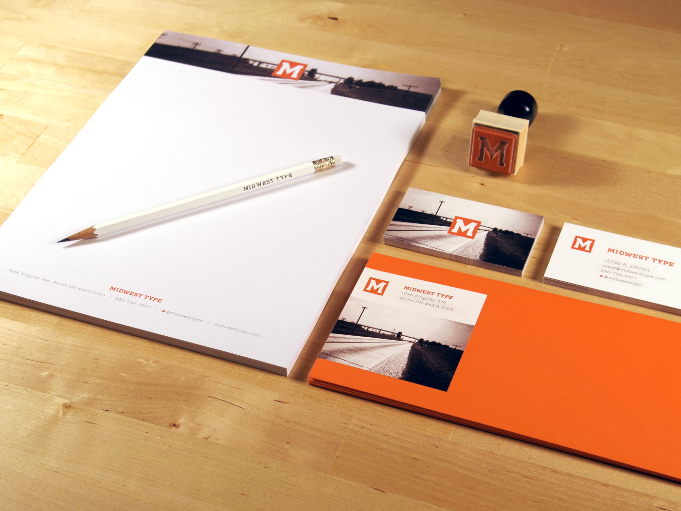 Midwest Type stationery