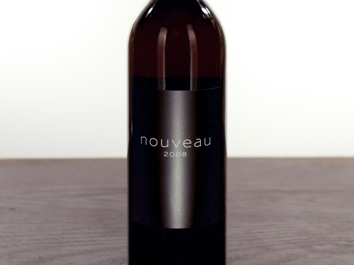 Nouveau wine label