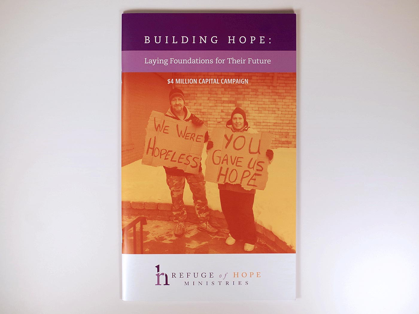 Refuge of Hope Capital Campaign booklet cover