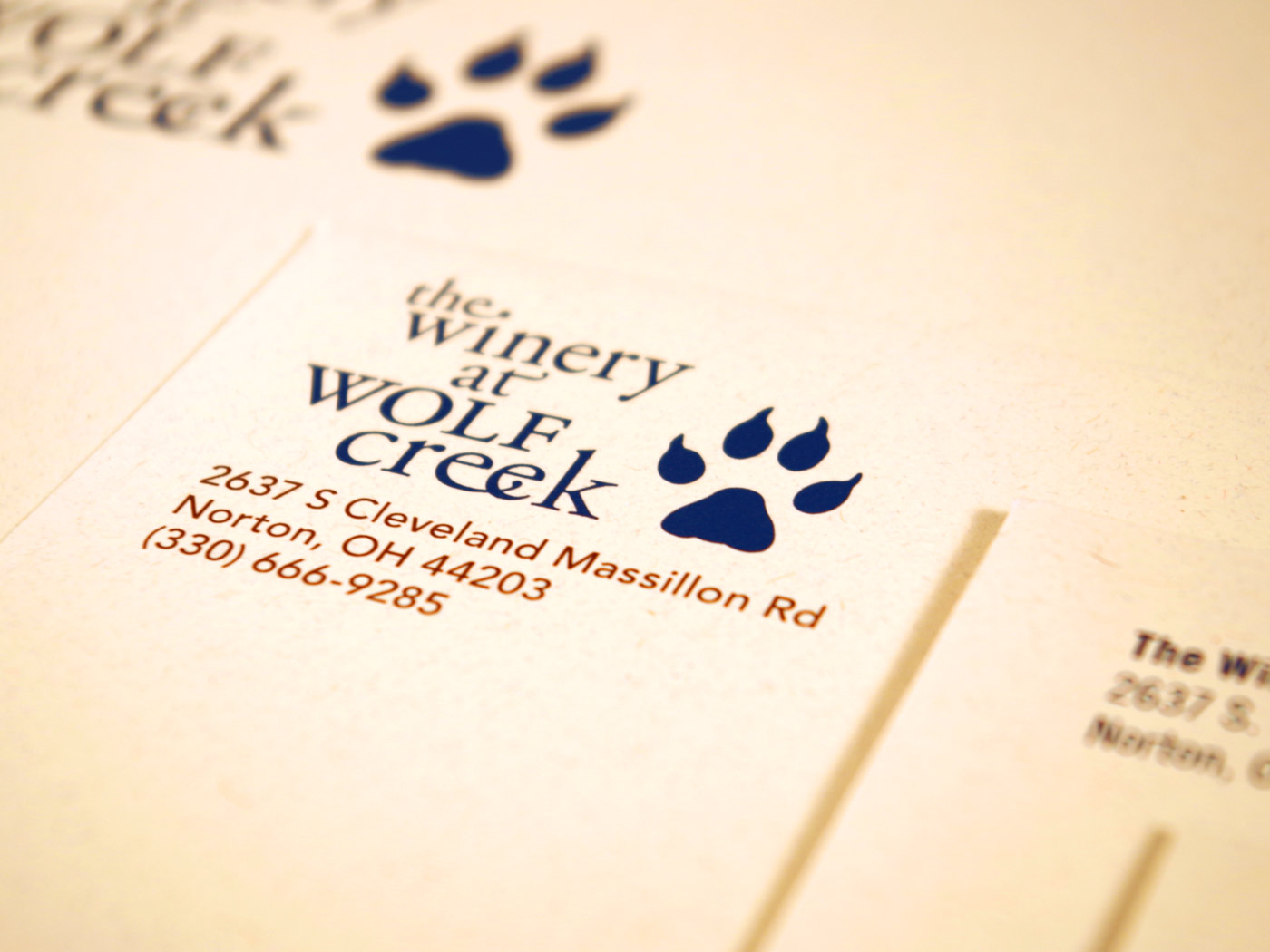 The Winery at Wolf Creek stationery