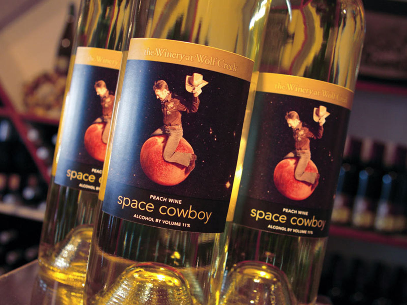 Space Cowboy wine label